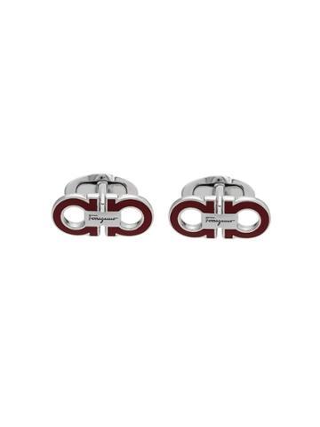 Salvatore Ferragamo Double Gancio Cufflinks - Silver