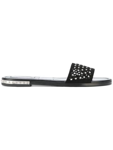 Jimmy Choo Star Flip Flops - Black