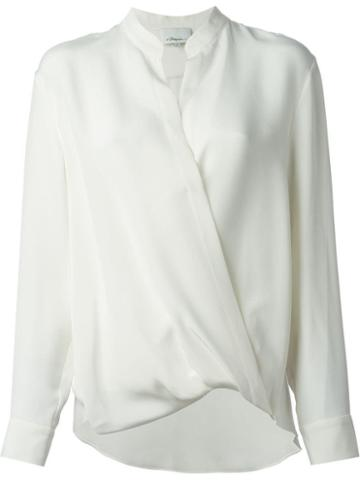 3.1 Phillip Lim Draped Wrap Blouse