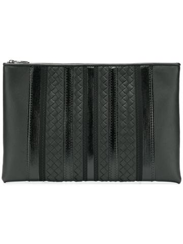 Bottega Veneta Bottega Veneta - Man - Tech Stripes Intreccio Pouch -