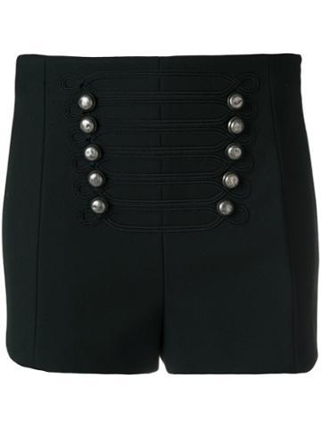 Red Valentino - Military Button Shorts - Women - Polyester/spandex/elastane/viscose - 42, Polyester/spandex/elastane/viscose
