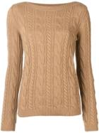 Max Mara Cable Knit Sweater - Brown
