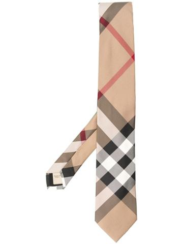 Burberry Classic Checked Tie - Neutrals