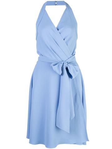 Dvf Diane Von Furstenberg Halter-neck Wrap Dress - Blue