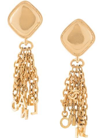 Chanel Pre-owned Logo Swing Earrings - Gold
