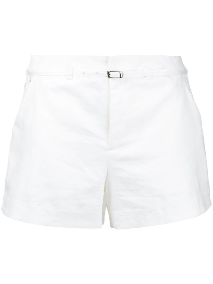 Loveless Belted Shorts - White