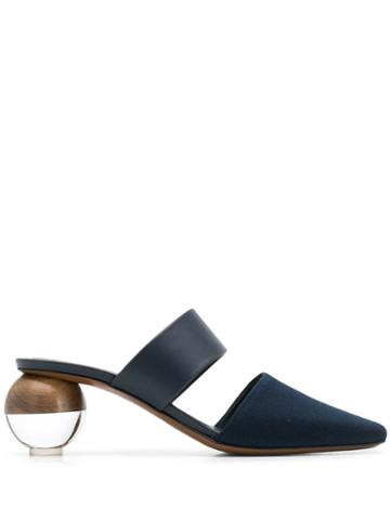 Neous Ornament Heel Pumps - Blue