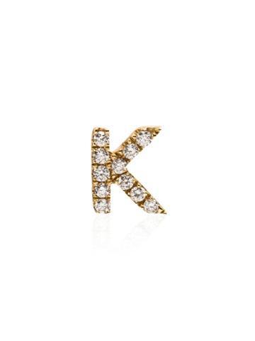 Loquet 18kt Yellow Gold K Diamond Letter Charm
