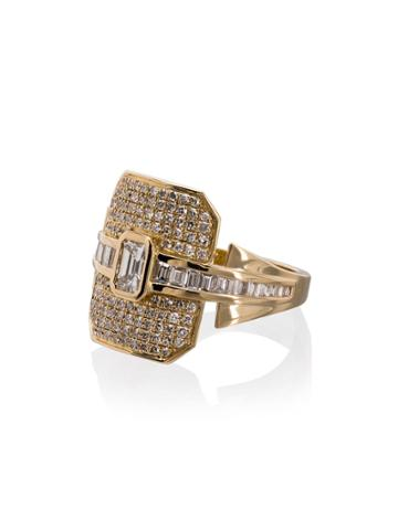 Shay 18k Yellow Gold Ring - Metallic