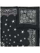 Amiri Paisley Star Print Scarf - Black