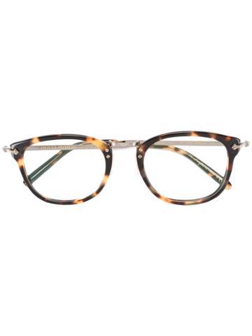 Oliver Peoples Turtle Print Glasses, Black, Acetate/metal