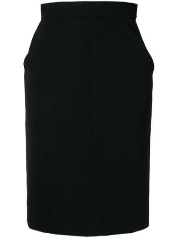 Yves Saint Laurent Vintage Ysl Skirt - Black