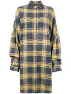 R13 Oversized Plaid Shirt - Multicolour