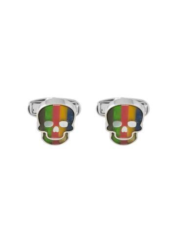 Paul Smith Striped Skull Cufflinks - Multicolour