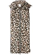 Veronica Beard Leopard Print Dickey - Brown
