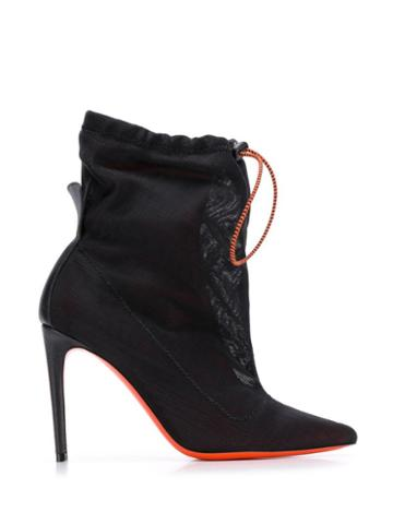 Heron Preston Pointed Drawstring Boots - Black