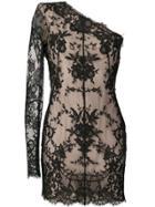 Alexander Mcqueen One-sleeve Lace Dress - Black