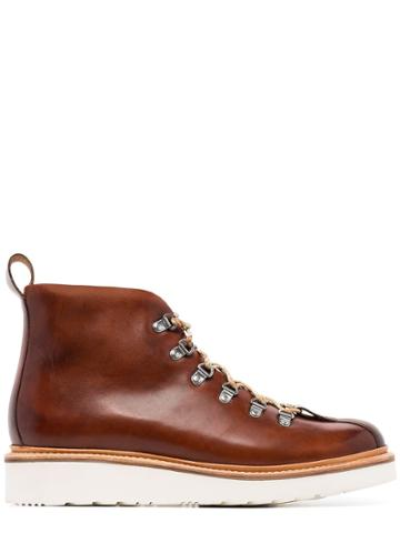 Grenson Bobby Hiking Boots - Brown