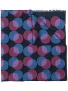 Paul Smith Circle Print Scarf - Blue