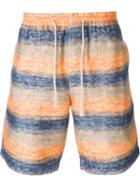 Junya Watanabe Comme Des Garçons Man Stripe Textured Bermuda Shorts