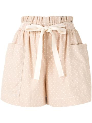 Karen Walker Bloomsbury Shorts - Neutrals