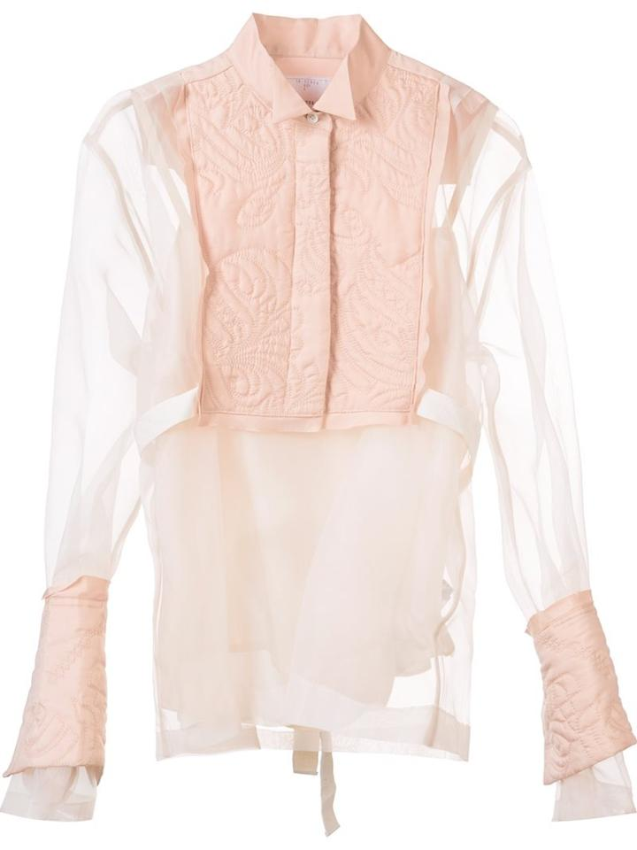 Sacai Embroidered Yoke Blouse