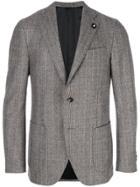 Lardini Formal Check Blazer - Brown