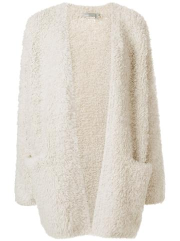 Vince - Open Front Cardigan - Women - Polyester/cashmere/wool/other Fibres - M, Nude/neutrals, Polyester/cashmere/wool/other Fibres
