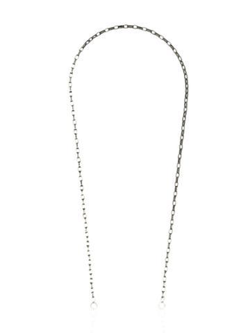 Marla Aaron Silver Biker Chain 14k Rose Gold Hoop Necklace - Metallic