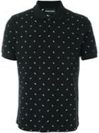 Emporio Armani Paisley Embroidered Polo Shirt