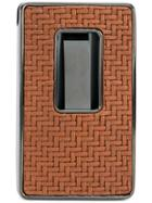 Ermenegildo Zegna Woven Business Card Holder - Brown