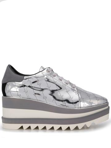Stella Mccartney Sneak-elyse Monogram Sneakers - Silver