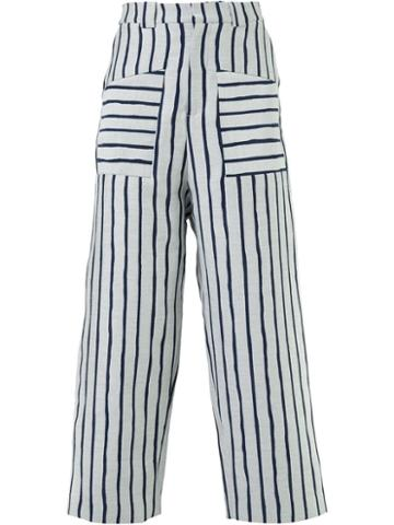 Agi & Sam Striped Wide Leg Trousers