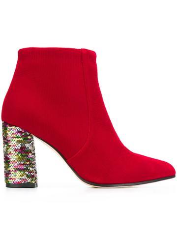 Bams Sequin Heel Boots