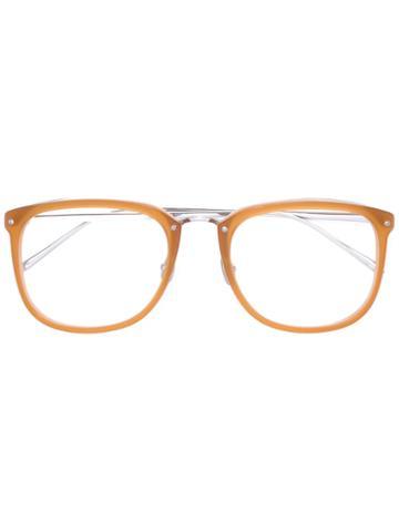 Linda Farrow Oversized Glasses, Nude/neutrals, Acetate/titanium