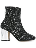 Maison Margiela Metallic Splatter Ankle Boots - Black