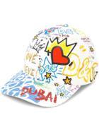 Dolce & Gabbana Dubai Graffiti Printed Cap - White