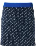 Stella Mccartney Logo Knit Mini Skirt - Blue