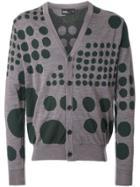 Kolor Dot Pattern Cardigan - Grey