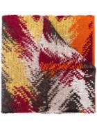 Missoni Patterned Knit Scarf - Orange