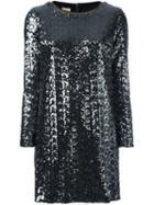 Nude Metallic Longsleeved Dress