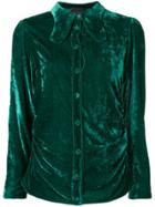 Erika Cavallini Velvet Shirt - Green