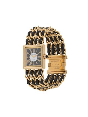 Chanel Pre-owned Cc Logos Mademoiselle Watch - Gold