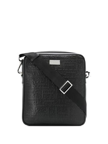 Baldinini Embossed Logo Plaque Messenger Bag - Black