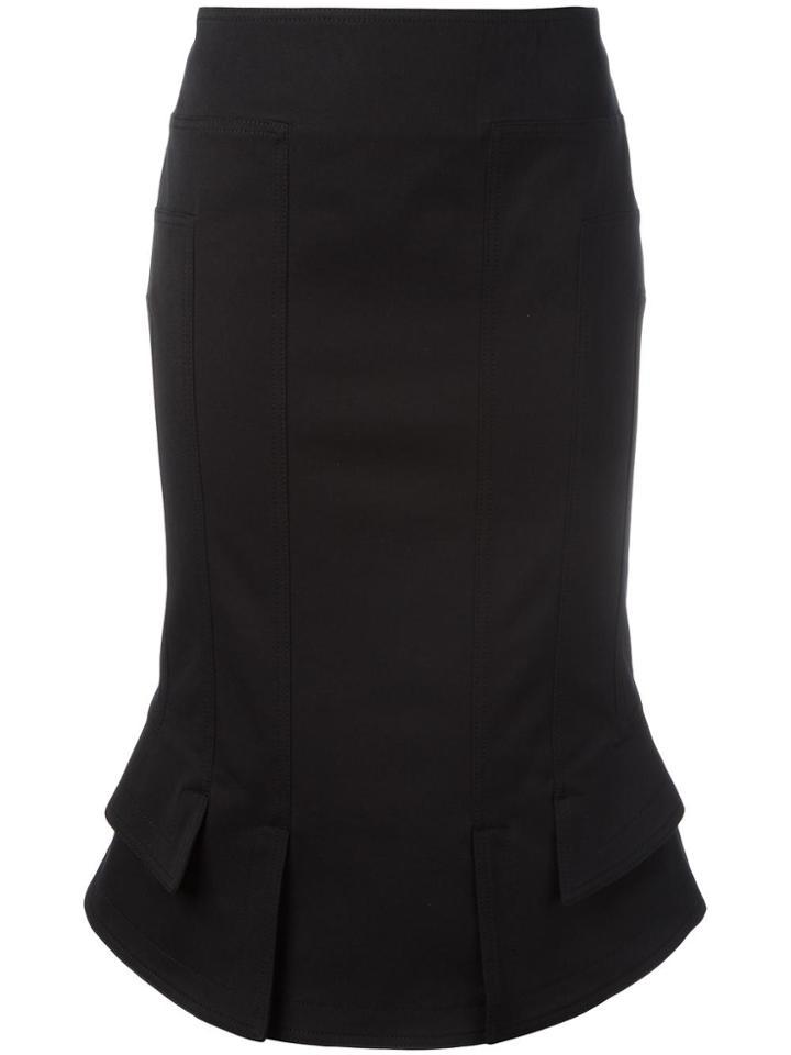 Tom Ford Flared Hem Fitted Skirt - Black