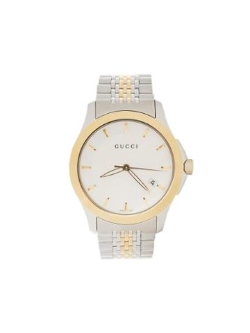 Gucci Two-tone Analog Watch, Adult Unisex, Metallic