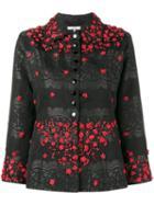 Ganni Auburn Jacquard Jacket, Women's, Size: 40, Black, Rayon/lurex/polyamide/polyester