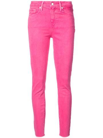 Paige Skinny Jeans - Pink & Purple