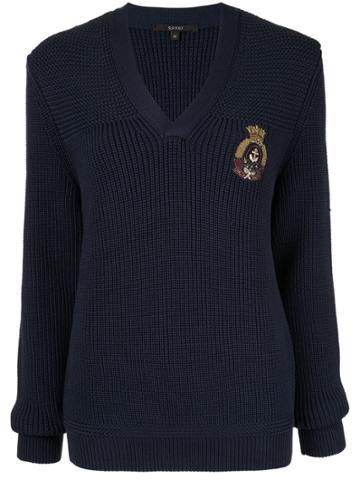 Gucci Vintage Vintage Logos Long Sleeve Knit Sweater - Blue