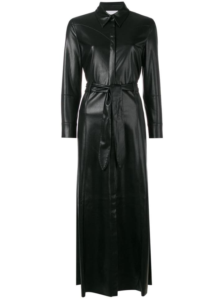Nanushka Aline Maxi Shirt Dress - Black
